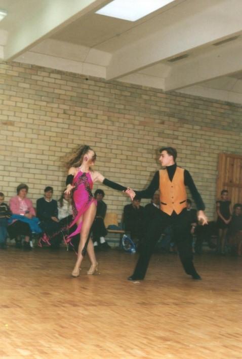 Martynas Stripinas su partnere Rasa Mašinskaite, 1995 m.