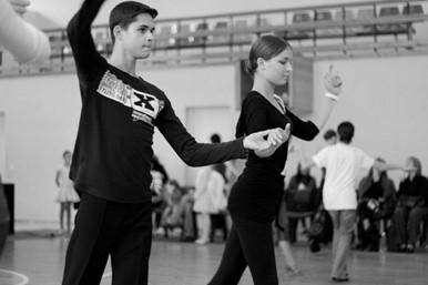 Tomas Šantaras su partnere Simona Rosinaite